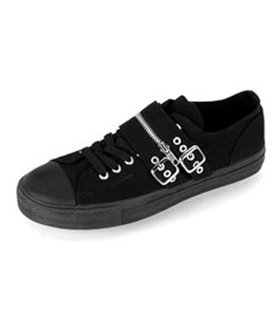DEVIANT-03 Black Buckle Sneakers