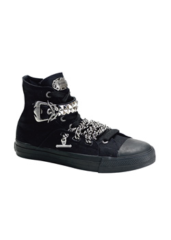 DEVIANT-110 Black Sneaker Boots