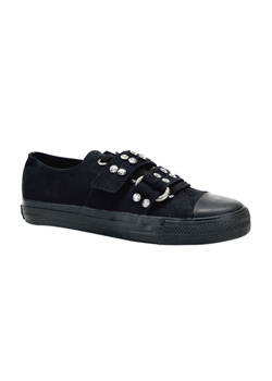 DEVIANT-12 Black Sneaker Shoes