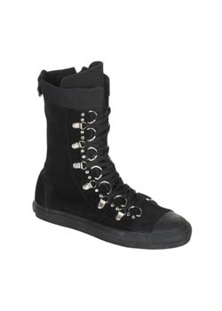 DEVIANT-205 D-Ring Sneaker Boot Black