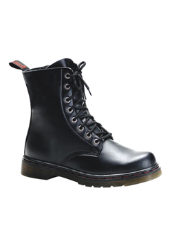 DISORDER-100 Black Laceup Boots