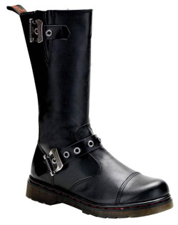 DISORDER-304 Black Buckle Boots