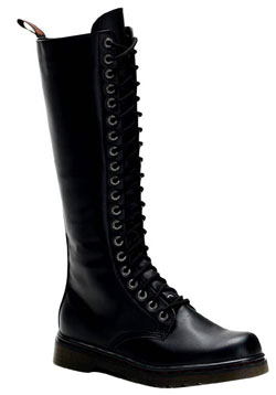 DISORDER-400 Black Laceup Boots