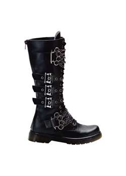 DISORDER-402 Black Knuckle Boots