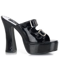 DOLLY-02 Black Platform Heels