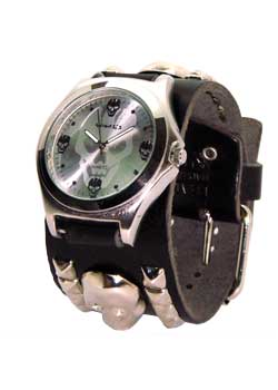 Metal Water Mark Skull Watch