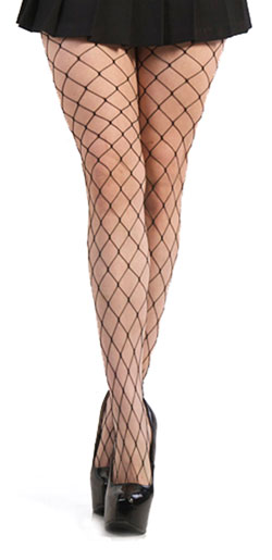 Large Weave Fishnet Pantyhose