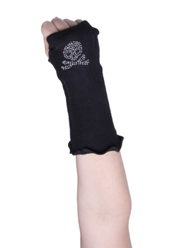 Fingerless Skull Gloves
