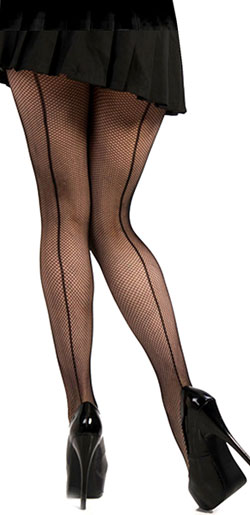 Fishnet Pantyhose Back Seam