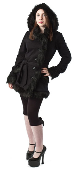 Freya Black Faux Fur Jacket