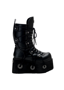 FURIOUS-201 Black Platform Boots