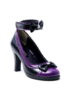GLAM-40 Purple Bow Shoes