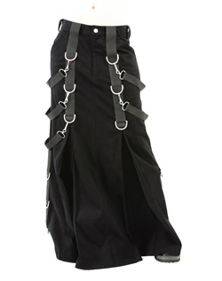Gothic Belt Denim Skirt