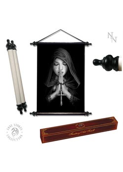 Gothic prayer art scroll - Anne Stokes
