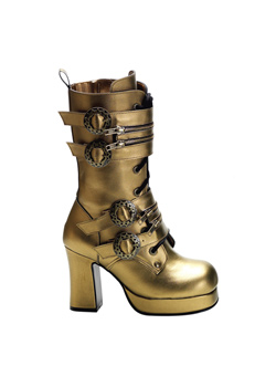 GOTHIKA-100 Bronze Steampunk Boots