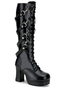 GOTHIKA-209 Black Strap Boots