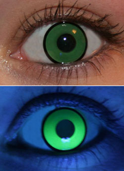 Green UV Glow Lenses