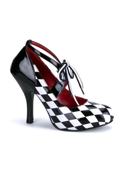 HARLEQUIN-03 Black White Heels