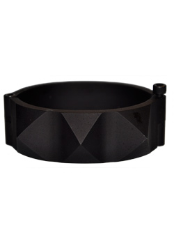 Black Industrial Pyramid Spike Cuff