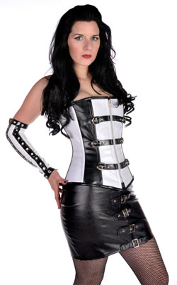 Rivithead Black and White Corset