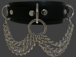 Leather Choker 4C