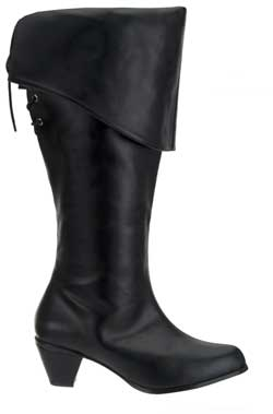 MAIDEN-2025 Black PU Boots