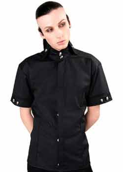 Mao Shirt Denim Black