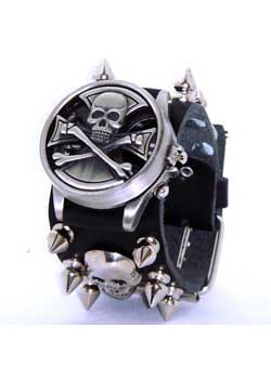 Spinning Skull with Iron Cross Watch