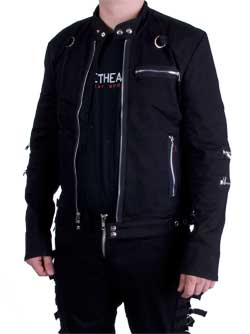 Mens Moto Black Jacket
