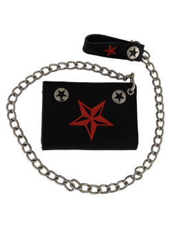 Red Nautical Star Wallet