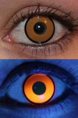 Orange UV Glow Lenses