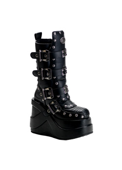 OUTLAW-201 Black Platform Boots