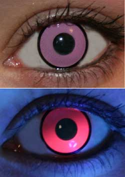 Pink UV Glow Lenses