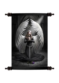 Prayer For The Fallen Art Scroll - Anne Stokes