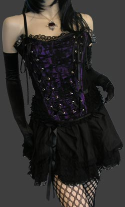 Tabatha Gothic Corset Satin Panel (P)