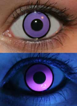 Purple UV Glow Lenses
