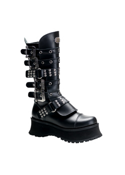 RAVAGE-302 Black Platform Boots