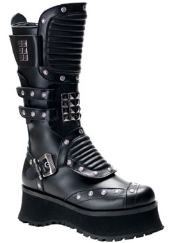 RAVAGE-303 Black Pyramid Boots