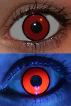 Red UV Glow Lenses
