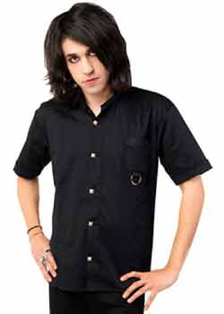 Ring Shirt Denim Black