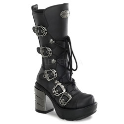 SINISTER-203 Chromed Heel Boots