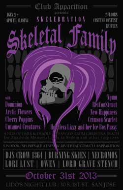 Club Apparition - Skeletal Family - Will Call - Admission 1