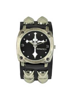 Studded Skull Cross Watch