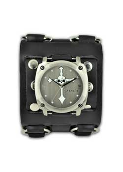 Skull Cross Wide Band Watch
