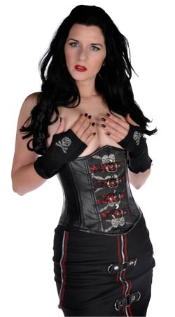 Rivithead Underbust Skull and Bones Corset