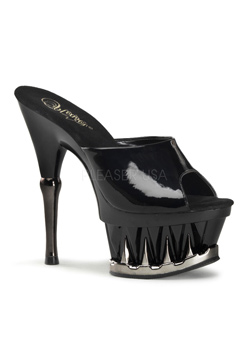 SPIKY-601M Black Platform Heels