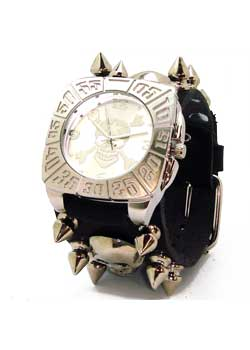 Cross Bones Skull in Tomb Case (Silver) Watch