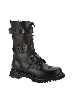 STEAM-12 Black Steampunk Boots