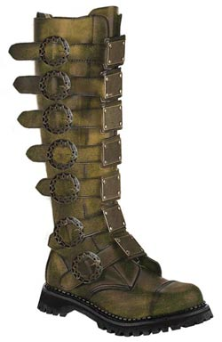 STEAM-30 Bronze Leather Boots