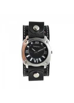 Roman Numerals Silver Leather Watch
